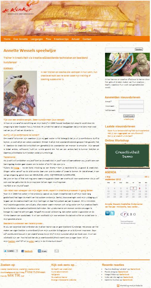 Wordpress Website voor De Klinker