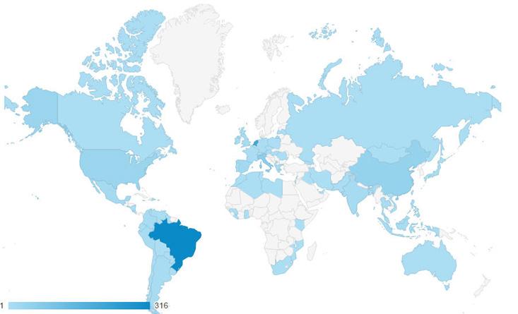 Bezoekers uit welke landen - Google Analytics